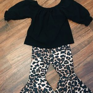 Other - Black and leopard two piece outfit